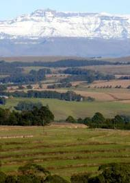 natal midlands view of giants castle central drakensberg
